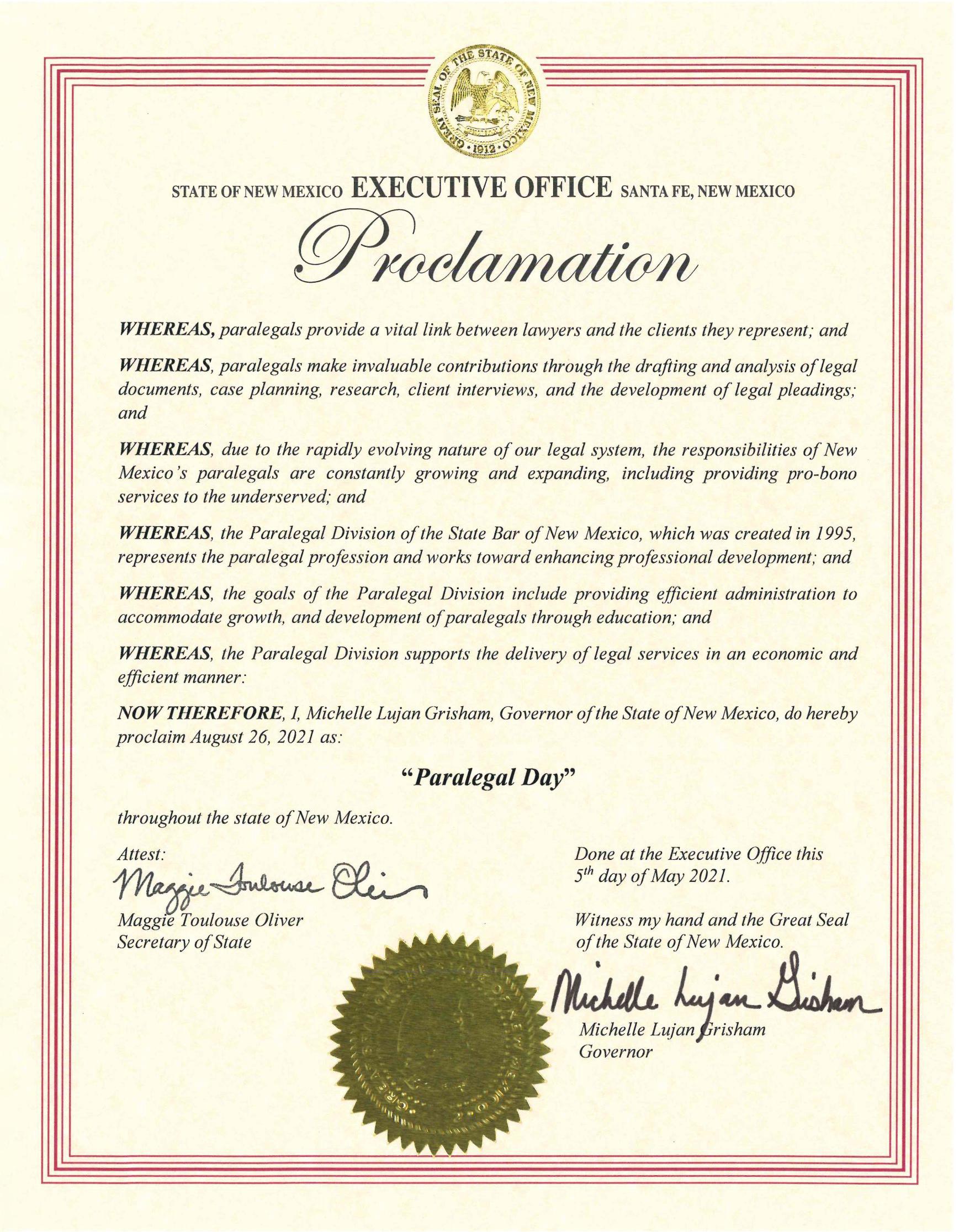 Executive Proclamation